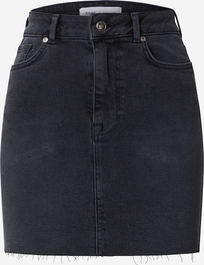 NU-IN Rok 'High Rise Raw Hem Denim Skirt' in de kleur Black denim, Productweergave