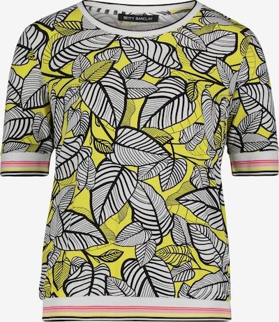 Betty Barclay Printshirt mit Rippbündchen in gelb / schwarz, Produktansicht