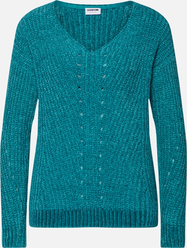 Noisy May Damen Pullover mit Norweger Dessin Dunkelblau