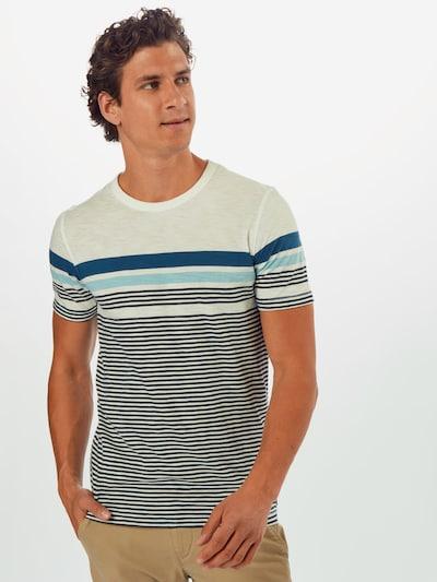 JACK & JONES T-Shirt 'JCOBLUE' en beige / bleu / blanc: Vue de face