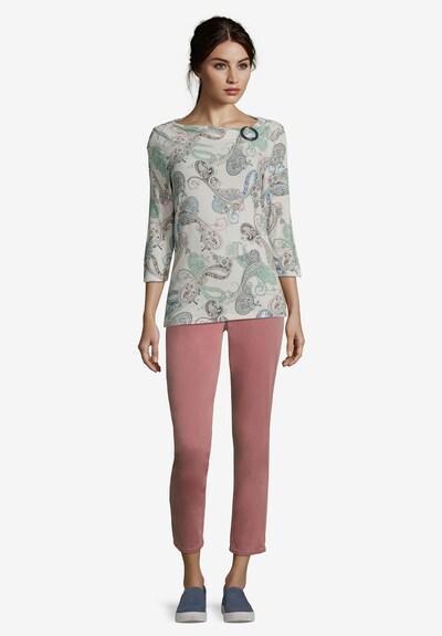 Betty Barclay Printshirt mit Schnalle in dunkelblau / weiß: Frontalansicht