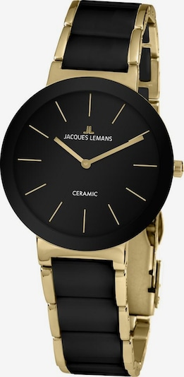 Jacques Lemans Uhr '42-7E' in gold / schwarz, Produktansicht