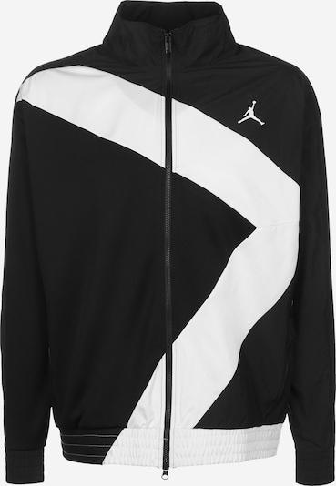 Jordan Trainingsjacke 'Sport DNA' in schwarz / weiß, Produktansicht