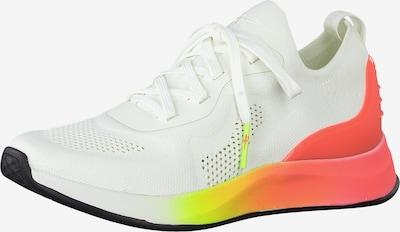 TAMARIS Sneakers laag 'Tamaris Fashletics' in de kleur Geel / Sinaasappel / Wit, Productweergave