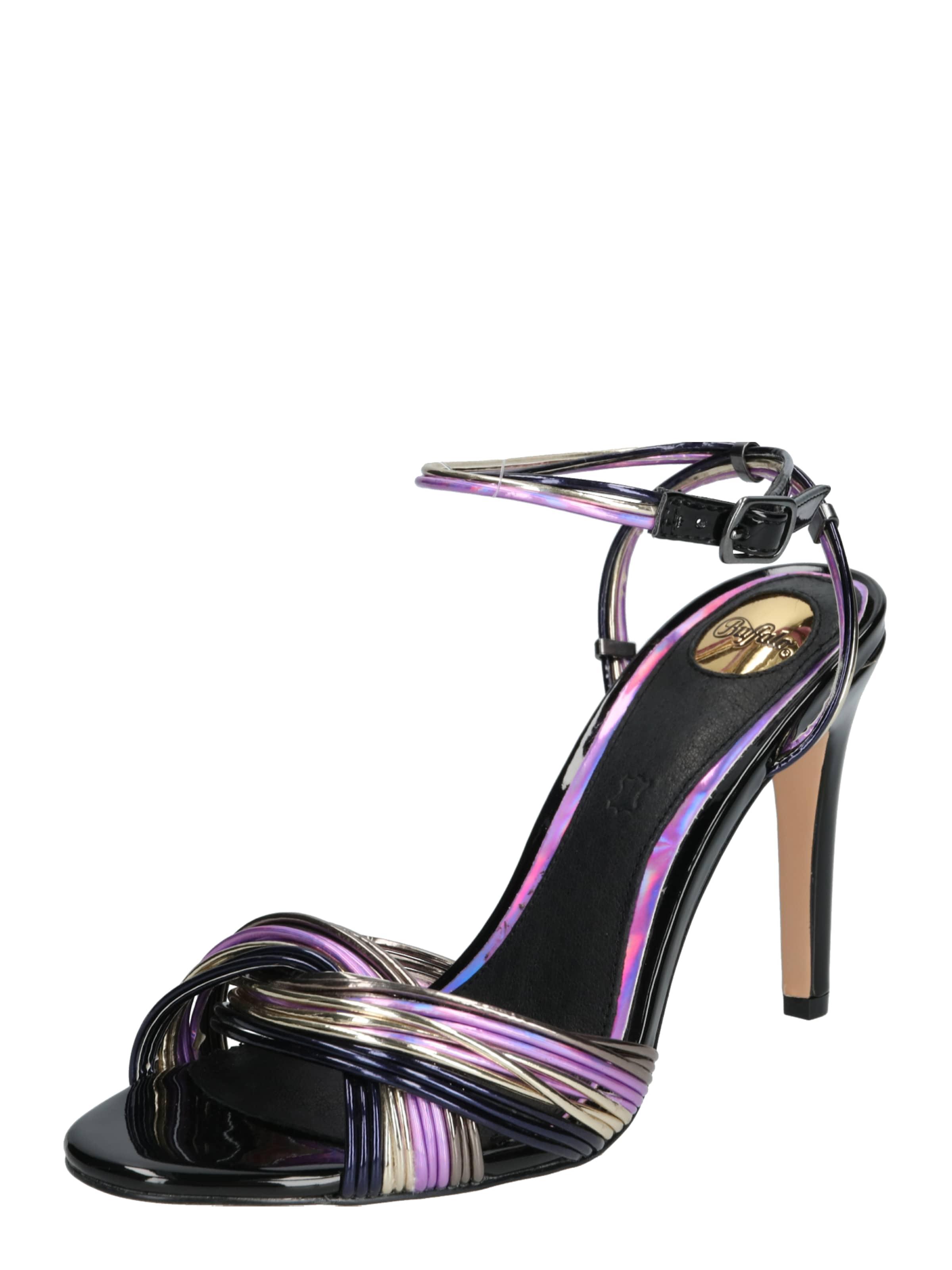 BUFFALO High Heels 'FLORIN' in blau   lila   schwarz