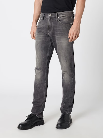 Calvin Klein Jeans Jeansy w kolorze szary denimm, Podgląd na modelu(-ce)