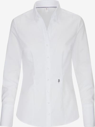 SEIDENSTICKER Hemdbluse 'Schwarze Rose' in weiß, Produktansicht