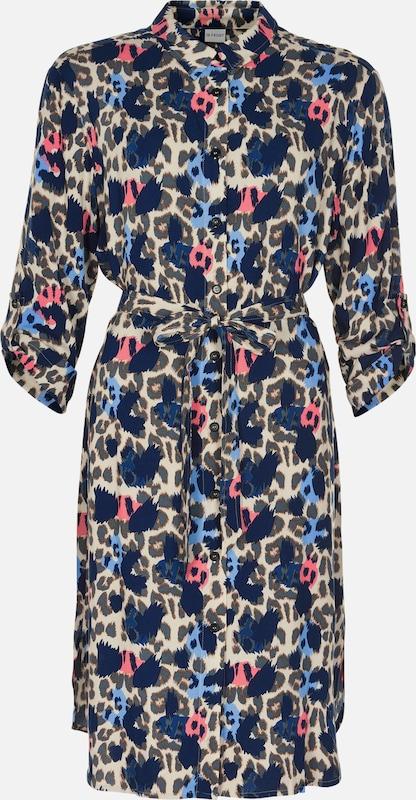 IN FRONT Kleid 'Ida' in beige   blau   Rosa  Neu in diesem Quartal