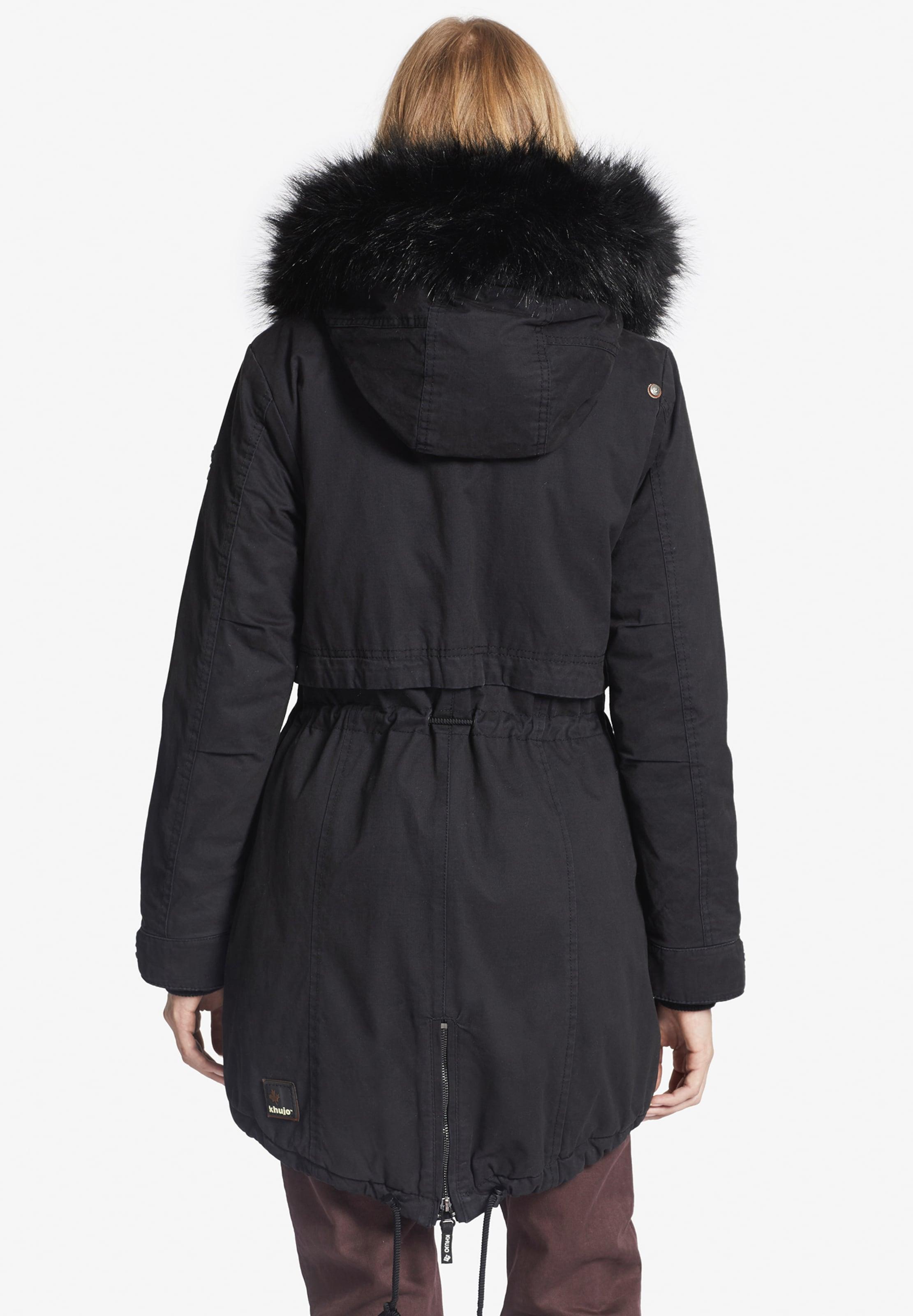 Khujo Manteau 'freja2' En Noir D'hiver N0wkXO8nZP