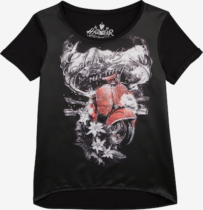 HANGOWEAR Hangowear Trachtenshirt Damen in gerader Passform in schwarz: Frontalansicht