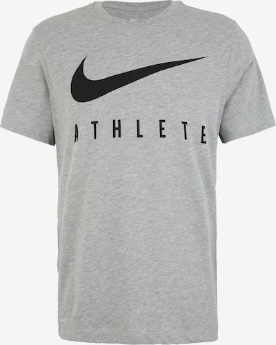 NIKE Functioneel shirt 'M NK DRY TEE DB ATHLETE' in de kleur Grijs gemêleerd / Zwart, Productweergave