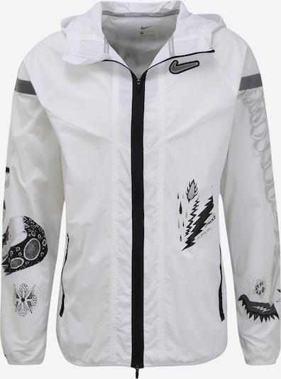 NIKE Sport-Jacke 'WILD RUN' in dunkelgrau / weiß, Produktansicht