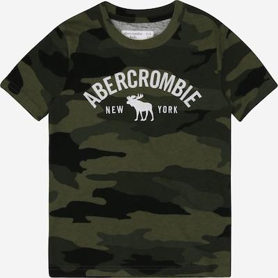 Abercrombie & Fitch Shirt in grün / khaki / weiß, Produktansicht