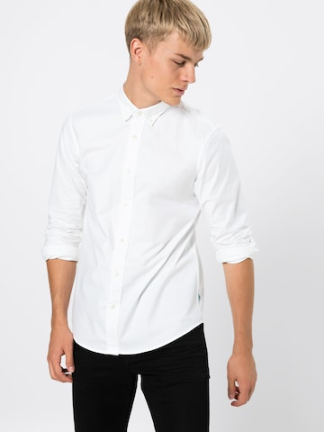 SCOTCH & SODA Hemd 'NOS Shirt with contrast details' in Weiß