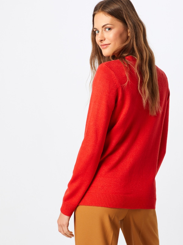 MarronRose New Rouge En Look Ancienne Pull over Blanc sdQthrC