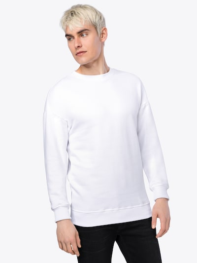 Urban Classics Sweat-shirt 'Basic Crewneck' en blanc: Vue de face