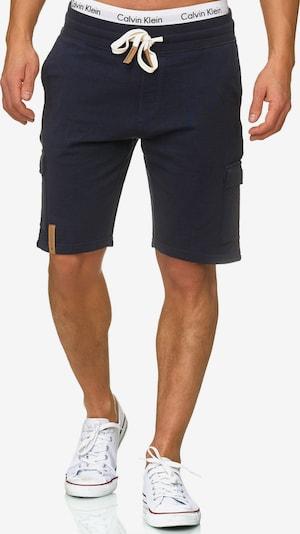INDICODE JEANS Cargobroek 'White Rock' in de kleur Donkerblauw, Productweergave