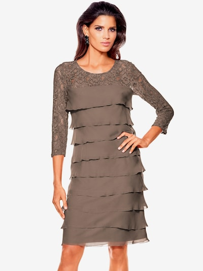 heine Koktejlové šaty - mokka, Model/ka
