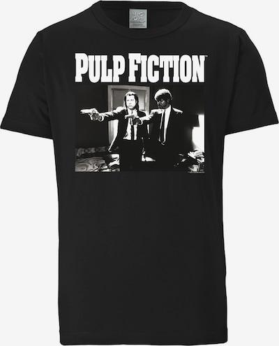 LOGOSHIRT T-Shirt 'Pulp Fiction' in schwarz / weiß, Produktansicht