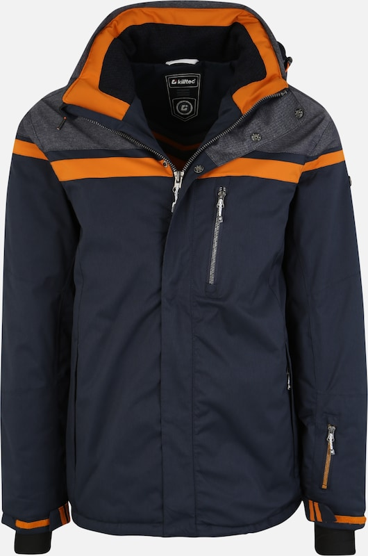 KILLTEC Jacke 'Tigor' in blau / orange, Produktansicht