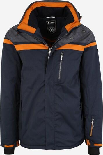 KILLTEC Skijacke 'Tigor' in navy / taubenblau / orange, Produktansicht
