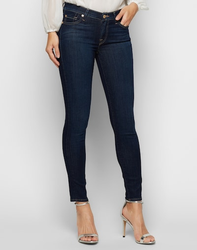 7 for all mankind 'THE SKINNY' Skinny Jeans in blue denim: Frontalansicht