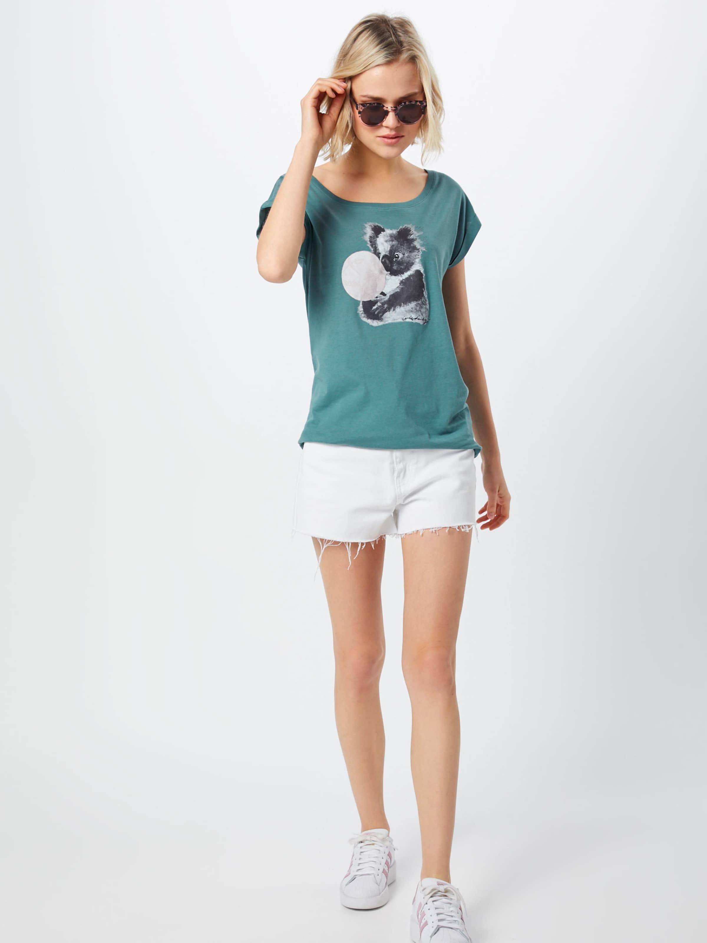 In Shirt PetrolWeiß Iriedaily 'koala Bubble Tee' JTF1lcK