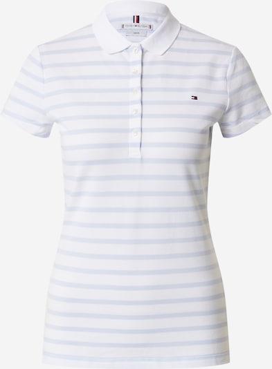TOMMY HILFIGER Poloshirt in hellblau / weiß, Produktansicht