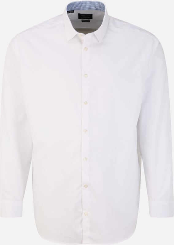 SELECTED HOMME Hemden 'SLHREGNEW-MARK SHIRT LS B PS' in weiß, Produktansicht