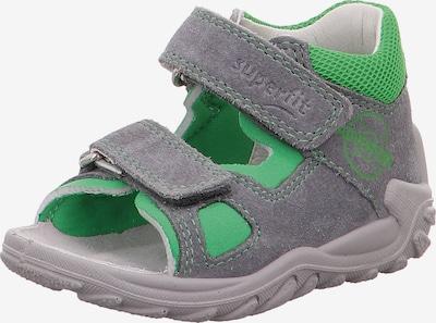 SUPERFIT Sandale 'Flow' in grau / apfel, Produktansicht