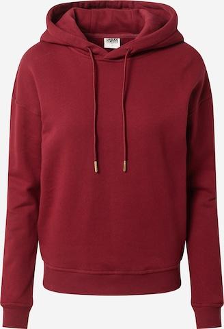 Urban Classics Sweatshirt in Red