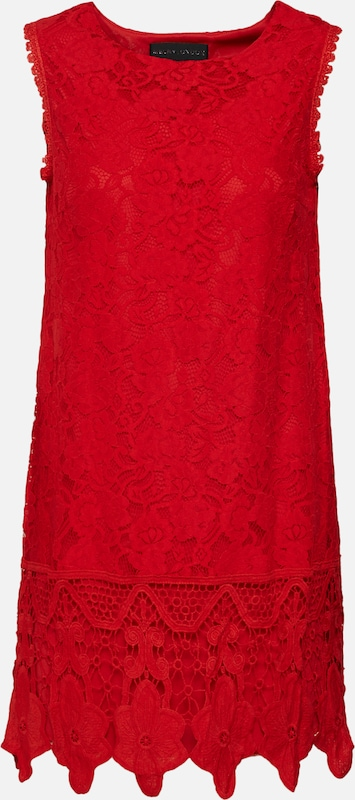 Rouge Border Cocktail Dress' En 'sleeveless London Mela Robe De Lace uwXOPkZiT
