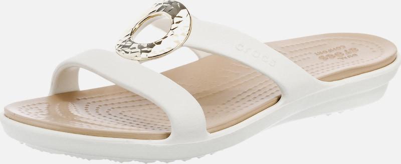 Crocs Pantolette 'Sanrah Hammered Met Sandal W'