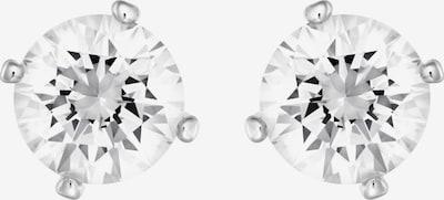 Swarovski Ohrstecker 'Attract' in silber / weiß, Produktansicht