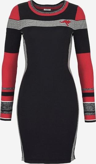 KangaROOS Strickkleid in dunkelgrau / rot / schwarz, Produktansicht