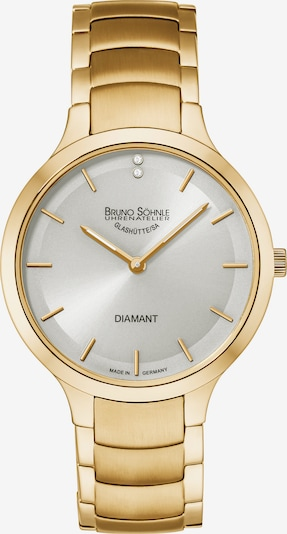 Bruno Söhnle Uhr 'Matera' in gold / hellgrau, Produktansicht