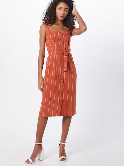 NÜMPH Robe d'été 'NUALYVIA' en rouge rouille, Vue avec modèle