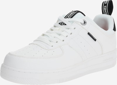 JACK & JONES Baskets basses 'JFWMAVERICK LO' en bleu foncé / blanc: Vue de face