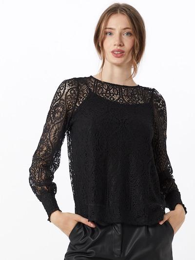 Bluză 'MINA' ONLY pe negru, Vizualizare model