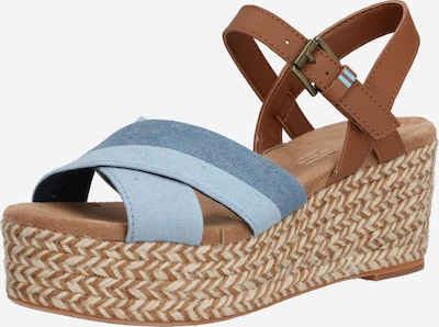 TOMS Sandale 'WILLOW' in navy / braun, Produktansicht