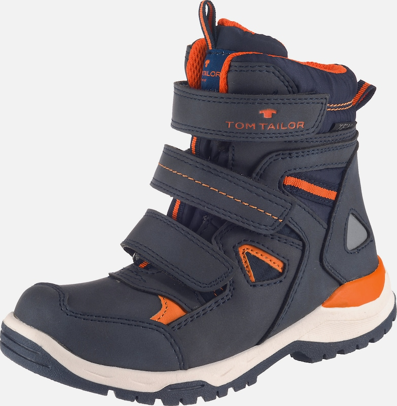 TOM TAILOR Winterstiefel 'Tex' in nachtblau / neonorange, Produktansicht