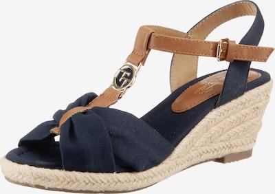 TOM TAILOR Sandalette in nachtblau / hellbraun, Produktansicht