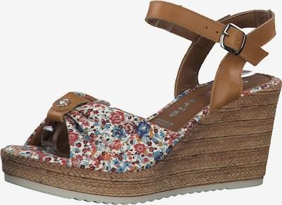 TAMARIS Sandale in braun / mischfarben: Frontalansicht