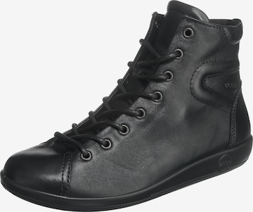 ECCO Lace-Up Ankle Boots 'Soft' in Black