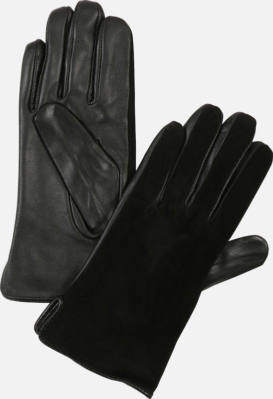 VERO MODA Handschuhe 'NICOLINE LEATHER GLOVES' in schwarz, Produktansicht