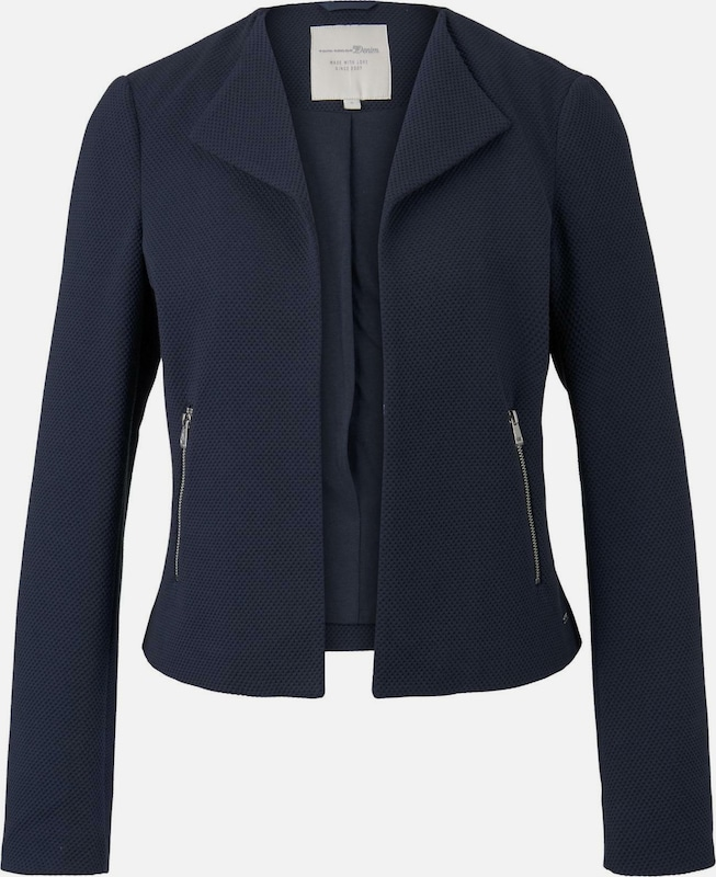 TOM TAILOR DENIM Blazer in navy, Produktansicht