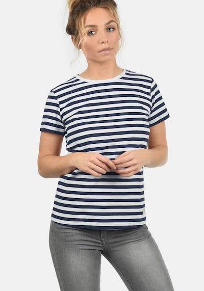 Desires T-Shirt in dunkelblau / weiß: Frontalansicht