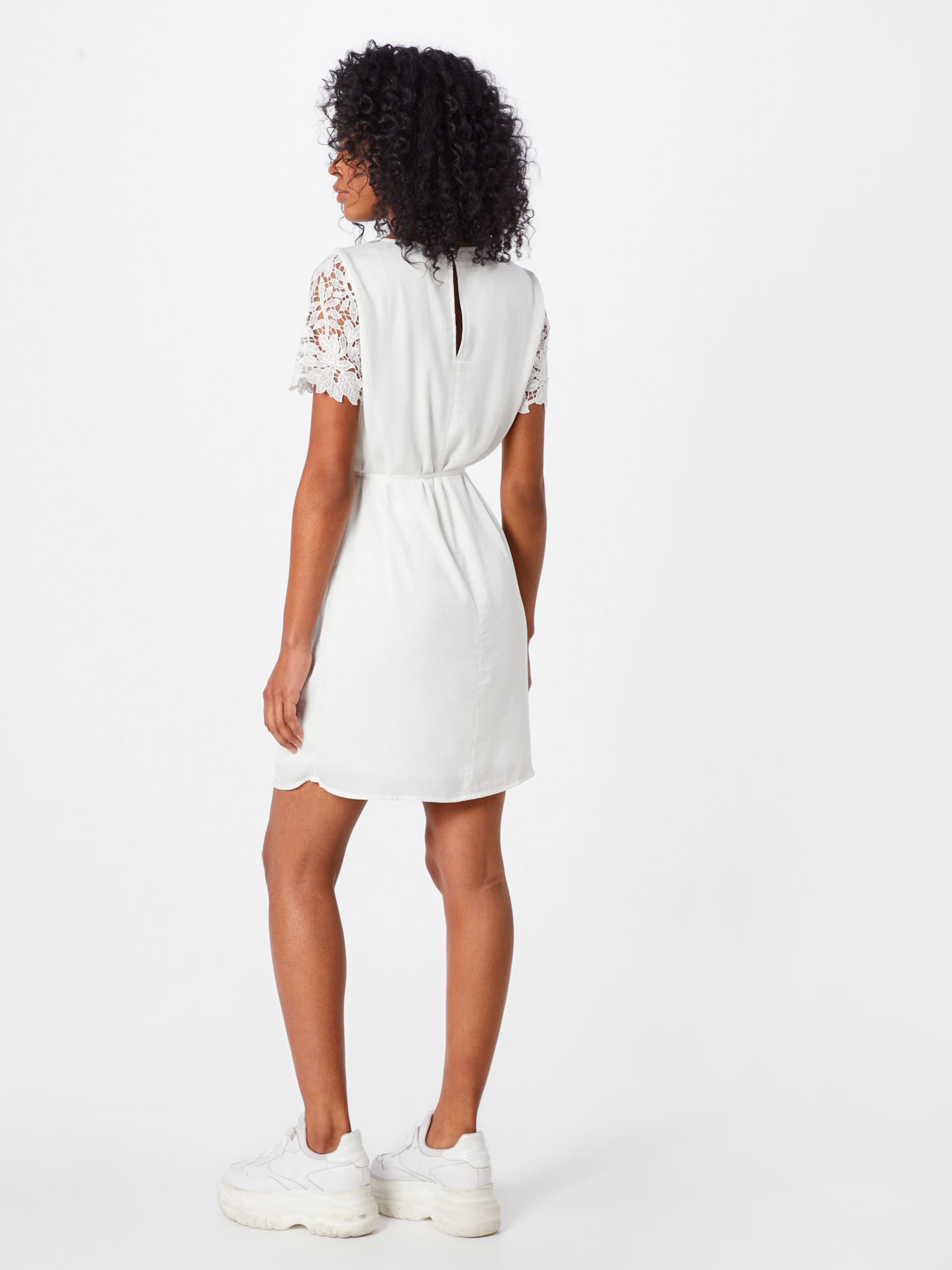 Lace Vila 'vimelli Blanc De Blocked Robe Cocktail Dress' En yvN0wmn8O