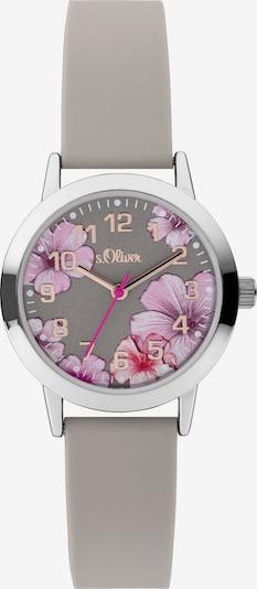 s.Oliver Uhr in rauchgrau / mischfarben / silber, Produktansicht