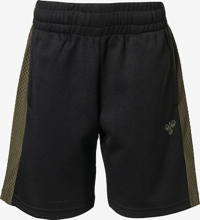 Hummel Shorts 'Kane' in oliv / schwarz, Produktansicht